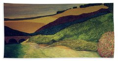 Vetheuil At Dawn Bath Towel