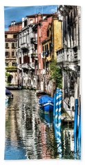 Bath Towel featuring the photograph Viale Di Venezia by Tom Cameron