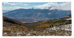 Vibrance Of The Storm Idaho Landscape Art By Kaylyn Franks Hand Towel