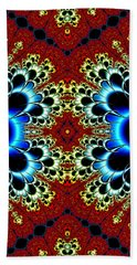 Vibrancy Fractal Cell Phone Case Bath Towel by Lea Wiggins