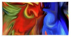Vibrant Abstract Color Strokes Hand Towel