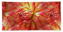 Vibrant Dahlia Petals Hand Towel
