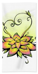 Vibrant Flower 8 Hand Towel