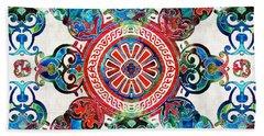 Vibrant Pattern Art - Color Fusion Design 4 By Sharon Cummings Bath Towel