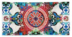 Vibrant Pattern Art - Color Fusion Design 4 By Sharon Cummings Bath Towel