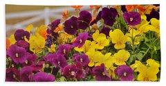 Vibrant Violas Bath Towel by JAMART Photography