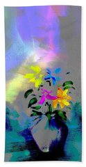Hand Towel featuring the digital art Vibrations by Frank Bright