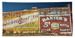 Victor Colorado Building Murals Bath Towel