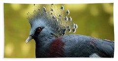 Victoria Crowned Pigeon Bath Towel