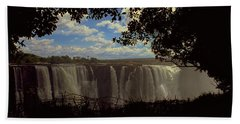 Bath Towel featuring the photograph Victoria Falls, Zimbabwe by Travel Pics
