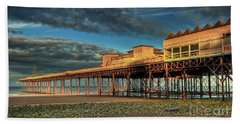 Hand Towel featuring the photograph Victoria Pier 1899 by Adrian Evans
