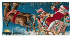 Victorian Christmas Card Hand Towel