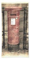 Victorian Red Post Box Hand Towel