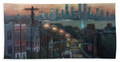 Victory Boulevard At Dawn Hand Towel