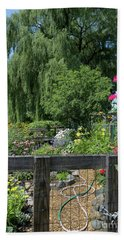 Victory Garden Lot And Willow Tree, Boston, Massachusetts  -30958 Hand Towel