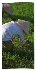 Hand Towel featuring the photograph Vietnam Paddy Fields by Travel Pics