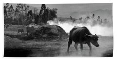 Vietnamese Water Buffalo  Bath Towel