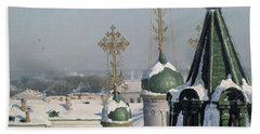 View From A Window Of The Moscow School Of Painting Hand Towel by Sergei Ivanovich Svetoslavsky