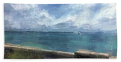 View From Bermuda Naval Fort Bath Towel by Luther Fine Art