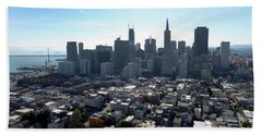 Bath Towel featuring the photograph View From Coit Tower by Steven Spak