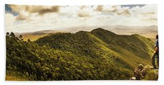 View From Halfway Up Mount Zeehan Hand Towel