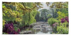 View From Monet's Bridge Bath Towel
