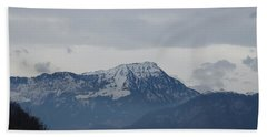 View From My Art Studio - Stanserhorn - March 2018 Bath Towel