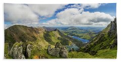 View From Snowdon Summit Hand Towel