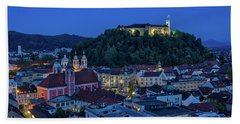 Hand Towel featuring the photograph View From The Skyscraper #2 - Slovenia by Stuart Litoff