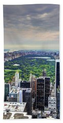 View From The Top Of The Rock Rockefeller Center Nyc II Hand Towel