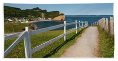 Bath Towel featuring the photograph View In Perce Quebec by Elena Elisseeva