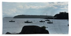 View Of Bustin's Island Harbor Hand Towel