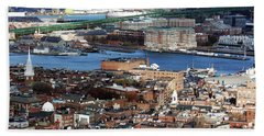 View Of Charlestown Navy Yard Hand Towel