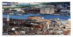 View Of Charlestown Navy Yard Bath Towel