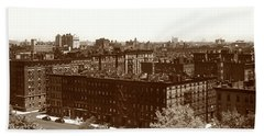 Hand Towel featuring the photograph View Of Harlem In 1950 by Marilyn Hunt