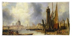 View Of London With St Paul's Bath Towel