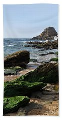 View Of Santa Rita Beach In Torres Vedras Bath Towel