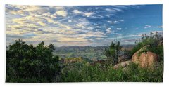View Of Simi Valley Bath Towel by Endre Balogh