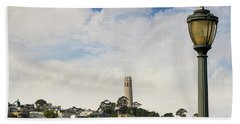View Of Telegraph Hill Neighborhood San Francisco Bath Towel