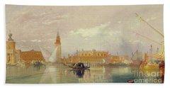 View Of Venice, 1867 Bath Towel