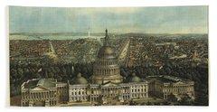 View Of Washington City Hand Towel