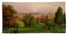 View Of Washington From Arlington Bath Towel