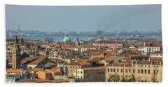 View On Venice Bath Towel by Patricia Hofmeester