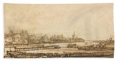 View Over The Amstel From The Rampart Hand Towel
