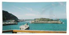 View Over The Ocean Port Hand Towel