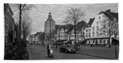 Hand Towel featuring the photograph View To The Bosch Street In Maastricht by Nop Briex