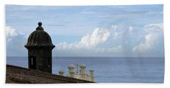 View To The Sea From El Morro Hand Towel by Lois Lepisto