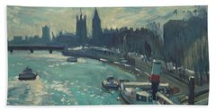 View To Westminster London Bath Towel