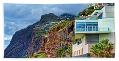 Viewpoint Over Camara De Lobos Madeira Portugal Hand Towel