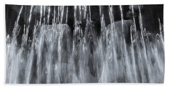 Vigeland Fountain In Blue Hand Towel